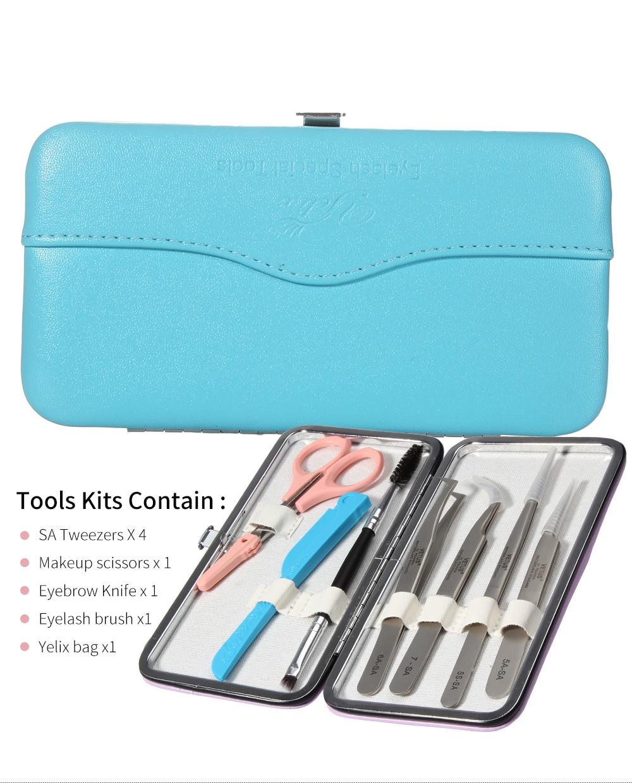 Professional Vetus Tweezers Tool Set Eyelash Extension Beauty Eyelashes Eyebrow Tools Kit Eye Makeup Accessories Case