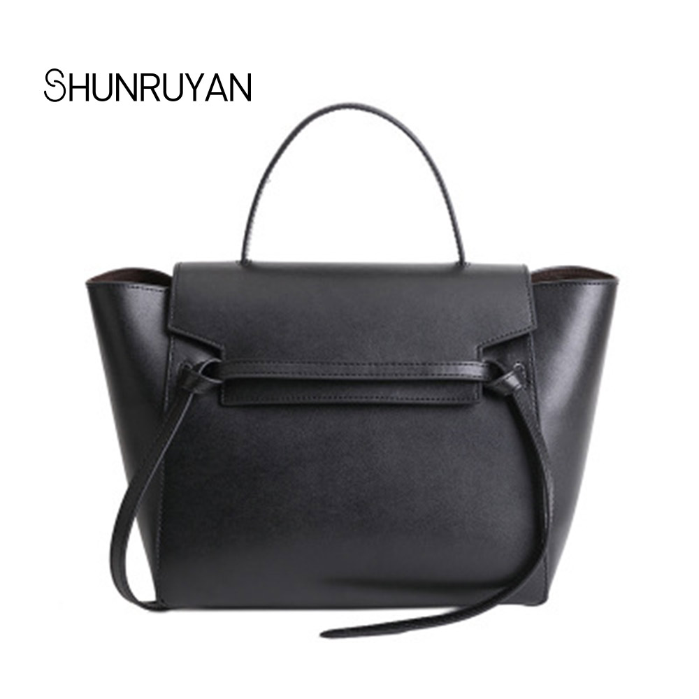 SHUNRUYAN Genuine Leather Brand Design Women Bag Shoulder Bag Casual Handbag Palm Pattern Cowhide Trapeze Small Crossbody Bags shunruyan 2018 brand design genuine leather women bag crossbody bag shoulder bag chain fashion party bag