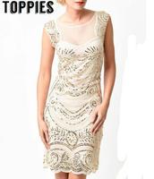 2017 Summer Elegant Great Gatsby Dress Sleeveless Vintage Sequins Flapper Dresses Party Dress Sexy&Elegant DS195