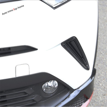 Yimaautotrims Front Bumper Fog Lights Lamp Frame Cover Trim 2 Pcs Fit For Toyota C-HR CHR 2016 - 2019 ABS Accessories Exterior for toyota chr c hr 2017 2018 suv hatchback lower front hood grill cover trim abs chrome exterior only fit asia model