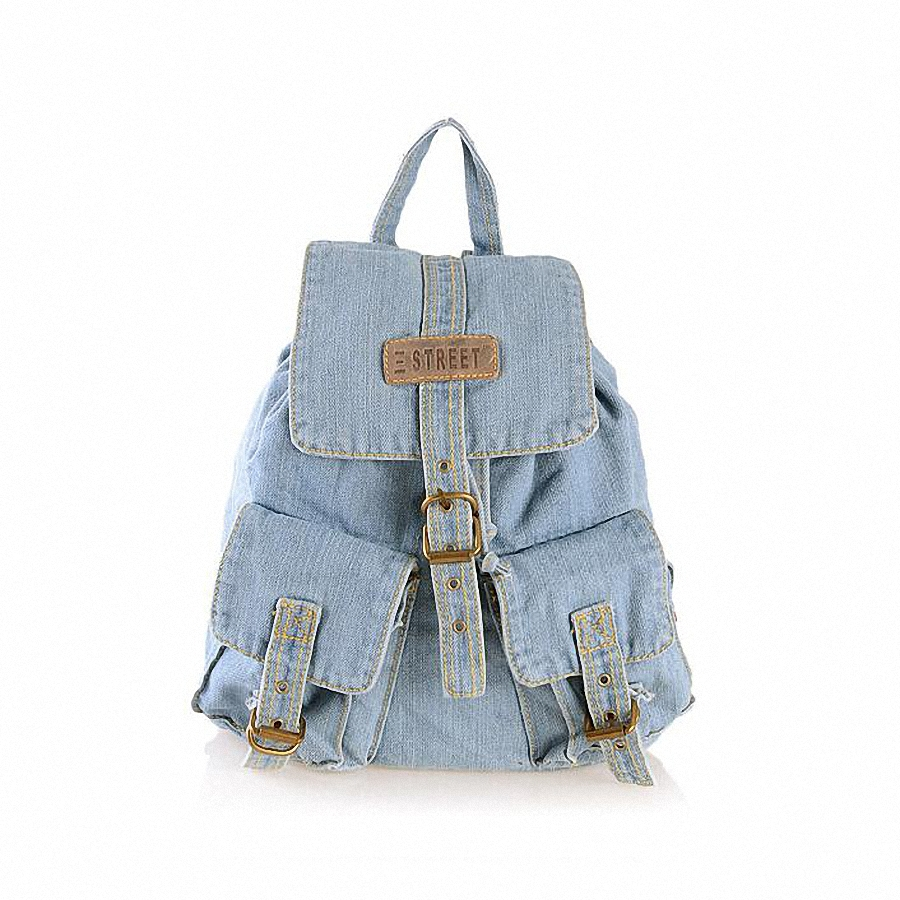 New 2016 Casual Canvas Backpack Women Fashion School Bags For Girls Denim Backpack Shoulder Bags