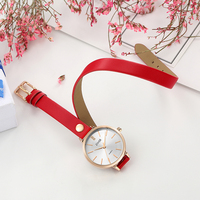 zivok Fashion Brand Women Bracelet Watch Red Long Leather Lovers Quartz Wrist Watches Clock Relogio Feminino Women's Watches