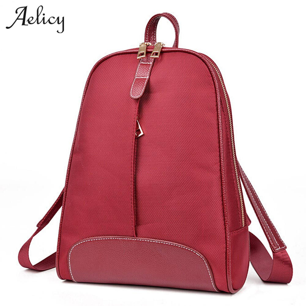 Aelicy 3 Colors Women Backpack PU Leather Solid Zipper Backpacks Female Back Pack Famous Brand NEW ARRIVAL Mochila Feminina 1005
