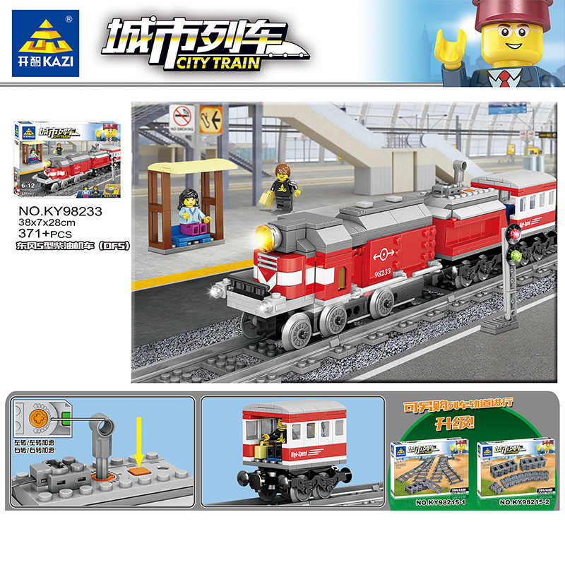 2018 nieuwe Flexibele Stad Compatibel power Treinen Rails Track Railway model sets Gevorkte Rechte Gebogen Bouwstenen Bricks Speelgoed