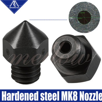 Mellow High Temperature Hardened Steel MK7 MK8 Nozzles F/ Micro Swiss Creality CR-10 Ender 3 Hotend Prusa i3 3D printer 1pc blue pink black mk7 mk8 mk9 silicone socks for ender creality cr 10 anet reprap tronxy x5s silicone heater block cover