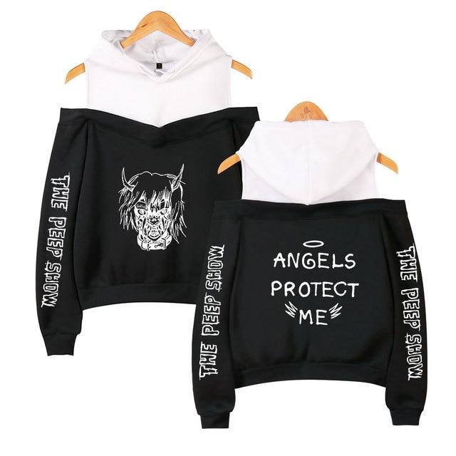 Unisex-Hoodie-Oberteil Lil Peep Angles Protect Me L/ässiger Pullover Lang/ärmliges Hoody-Sweatshirt
