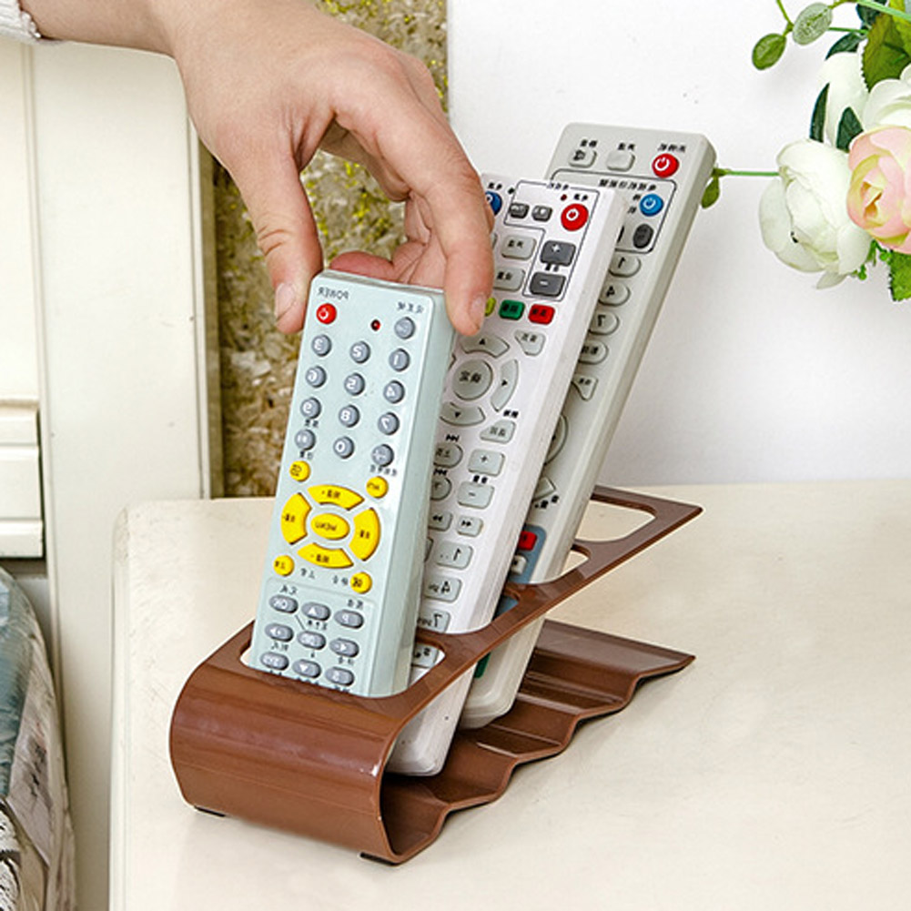 Hot 1Pc Multifunction 4 Frame TV/DVD Step Remote Control Storage Mobile Phone Holder Stand Organiser Home Accessories