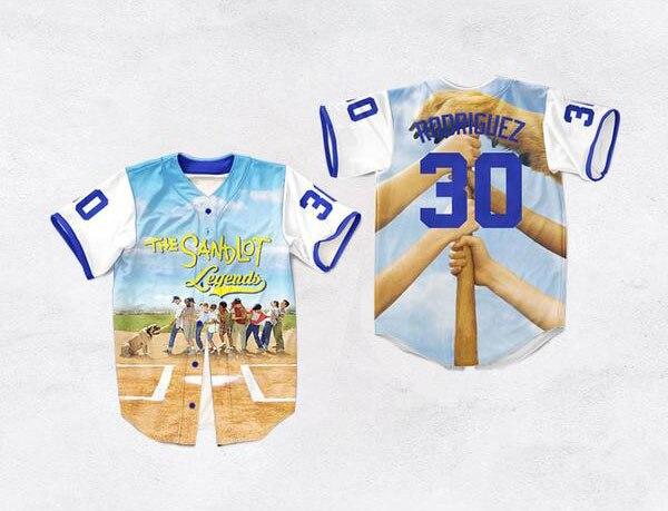 3D impreso béisbol Jersey el sandlot leyendas 30 Benny 'la jet' Rodríguez 11 Sí-sí 1 Leyendas-Timmons mens 3D camisa S-3XL