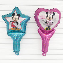 1 pcs/lots Minnie Mouse theme party decoration Combination suit balloons Happy birthday party Dot latex balloons baby kid toys(China)