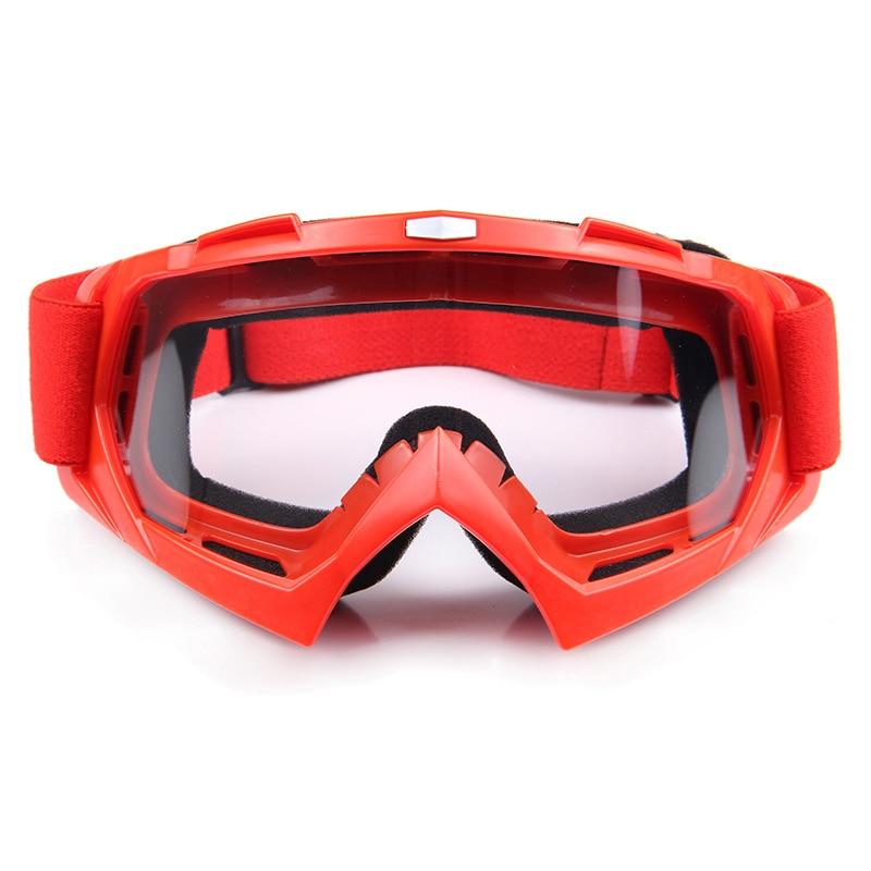 6 colors Motocross Off-Road Racing Glasses Eyewear Ski Motorcycle Snowmobile ATV DH Skate Goggles Single Lens Clears
