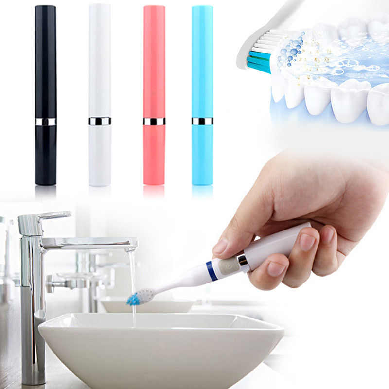 2018 Electric ultrasonic toothbrush vibration toothbrush adult children lipstick toothbrush Cleaning Whitening Toothbrush 2 Head image
