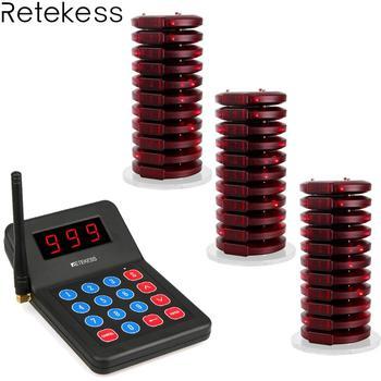 Sistema de Chamada Sem Fio Restaurante Pager Coaster 30 T119 reticência Transmissor Equipamentos de Restaurante Sistema De Chamada de Pager + 1 F3357