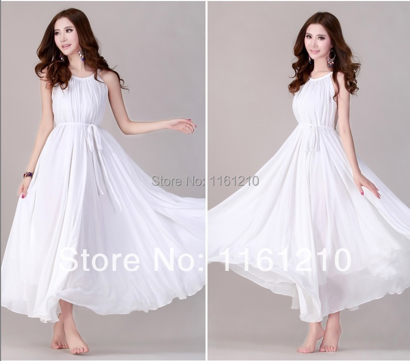 White Summer Holiday Beach Dress Beach Wedding Party Guest Sundress Plus  Size Large Size Beach Dress In Dresses From Womenu0027s Clothing U0026 Accessories  On ...