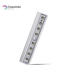 8 * SMD LED Super Luminoso Magnete Barra Sensore di Luce Per Cabinet Armadio Battery Operated PIR Sensore di Movimento LED di Notte luce