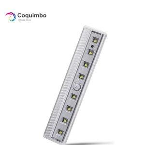 Image 1 - Luz super brilhante de led, 8 * smd para barra de sensor de ímã para gabinete, guarda roupa, bateria, sensor de movimento pir, luz led noturna luz clara