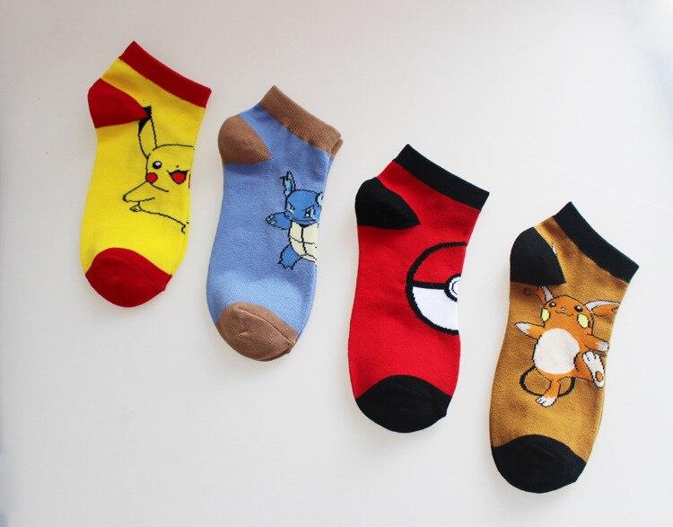 women-men-socks-font-b-pokemon-b-font-go-ankle-socks-adult-pocket-monster-cosplay-socks-pikachu-charmander-poke-ball-cartoon-casual-socks