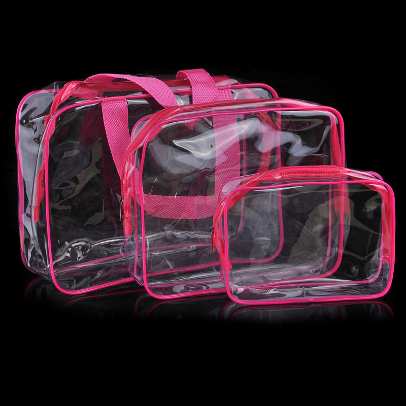 Superior Transparent PVC Cosmetic Bags For Women Travel Makeup Waterproof Washing cosmetic Organization Make Up Cases Hiking Bag