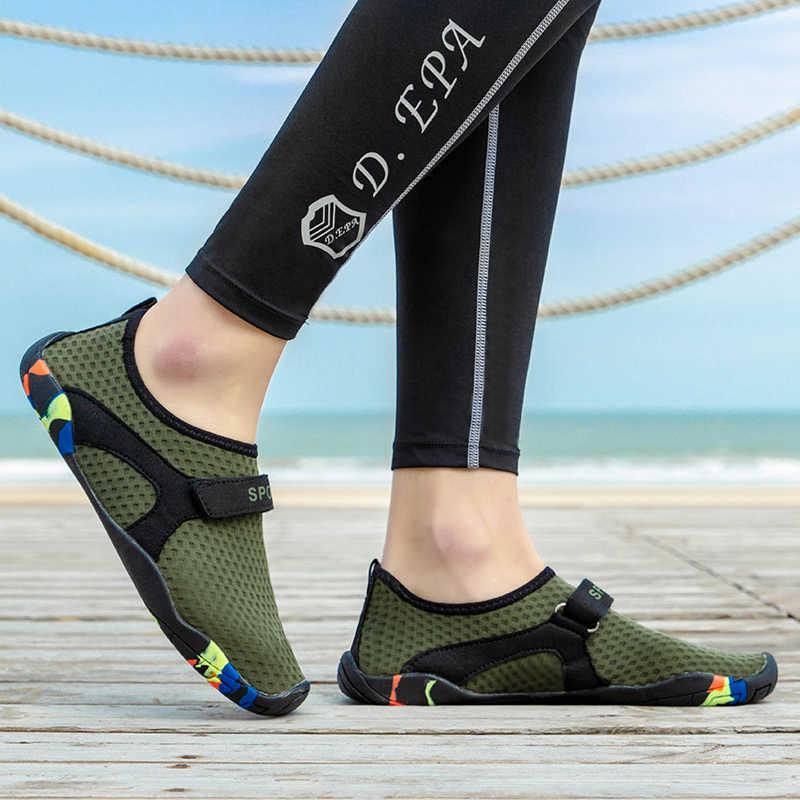 Barefoot Schoenen Vijf Vinger Strand Schoenen Vrouwen Zomer Aqua Schoen Mannen Lichtgewicht Outdoor Zwemmen Schoenen Ademende Sokken Botas Agua