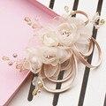Cabeça de flor cocar de casamento champanhe Coreano Coreano jóia do casamento de noiva acessórios do cabelo do casamento acessórios 4444