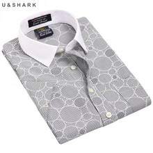 2017 summer Brand Mens casual shirt Business Dress Shirts casual cotton Print male short-sleeved Formal Work Shirts Men