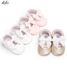 2019 Newborn Baby Girls Moccasin Shoes Soft Bottom PU Leather Toddler Kids First Walkers Non-slip Footwear Crib Shoes 1pair baby first walkers red camouflage pattern soft leather shoes lace up fashion non slip footwear crib shoes all season