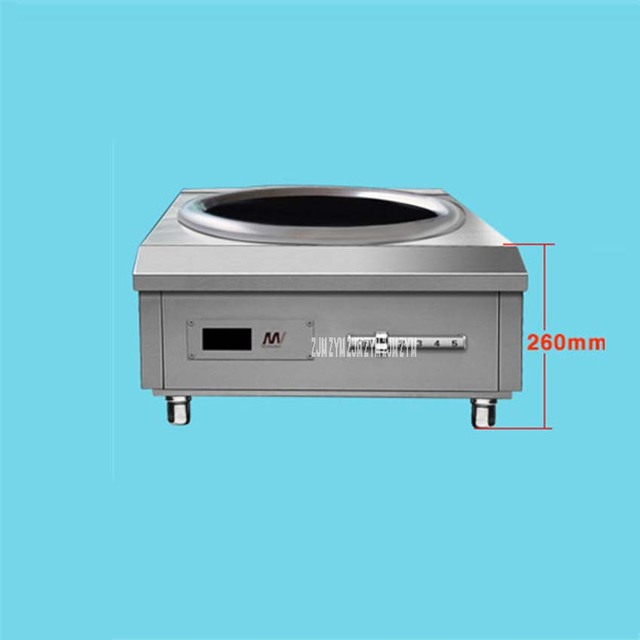 8000W Concava In Stainless Steel High Power Induction Cooker Commercial Stove Electromagnetic Furnace Industrial Electric Frying 1
