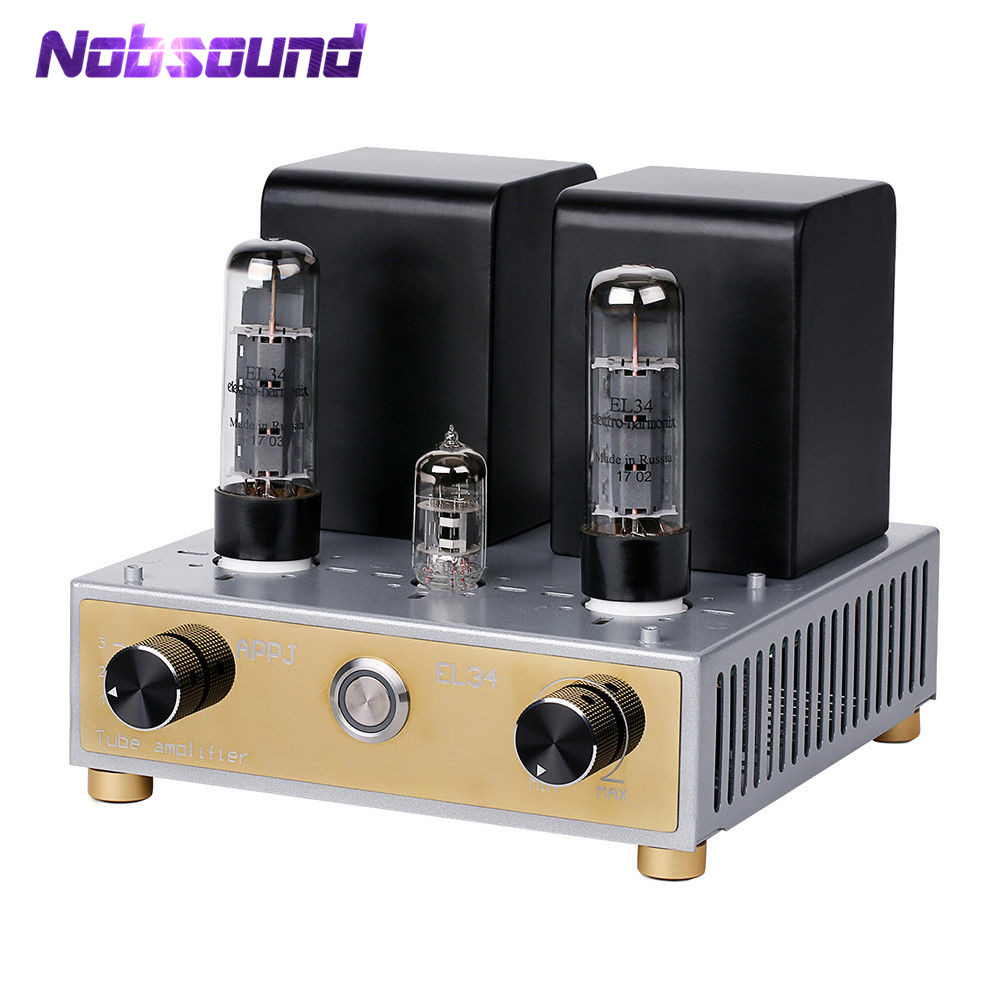 2017 New APPJ Mini EL34 Vacuum Tube Amplifiers HiFi Stereo Single-Ended Class A Power Amp 12W+12W2017 New APPJ Mini EL34 Vacuum Tube Amplifiers HiFi Stereo Single-Ended Class A Power Amp 12W+12W