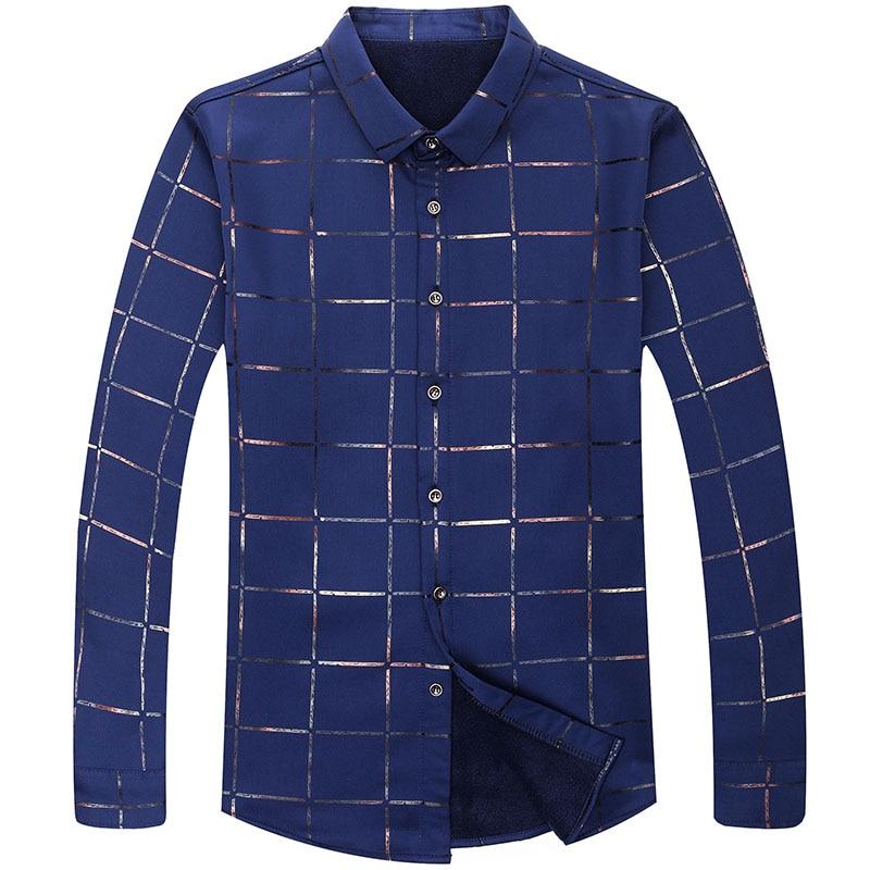 2020 Brand Casual Spring Luxury Plaid Long Sleeve Slim Fit Men Shirt Streetwear Social Dress Shirts Men's Fashions Jersey  3
