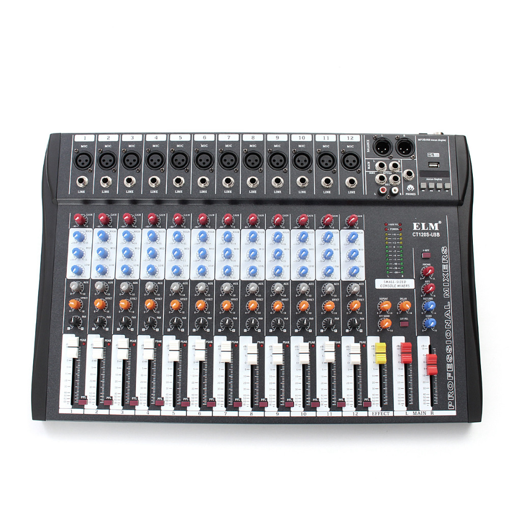Professional 12 Channel Live Studio Audio Mixer Power USB Mixing Console CT-120S bruce johnson professional visual studio 2017