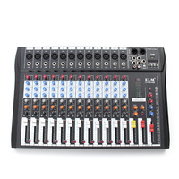 Professional 12 Channel Live Studio Audio Mixer Power USB Mixing Console CT 120S