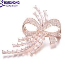 Honghong высококачественные булавки и броши с фианитом в форме