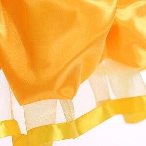 Image 5 - Dziewczyny Belle sukienka księżniczka dziewczyna Off ramię bajka Cosplay impreza z okazji halloween sukienki dziecięca suknia balowa akcesoria do kostiumów