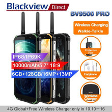 Blackview BV9500 pro 10000 мАч водонепроницаемый смартфон с IP68 android 8,1 5,7 «18:9 6 ГБ 128 ГБ портативная рация face ID 4G мобильные телефоны