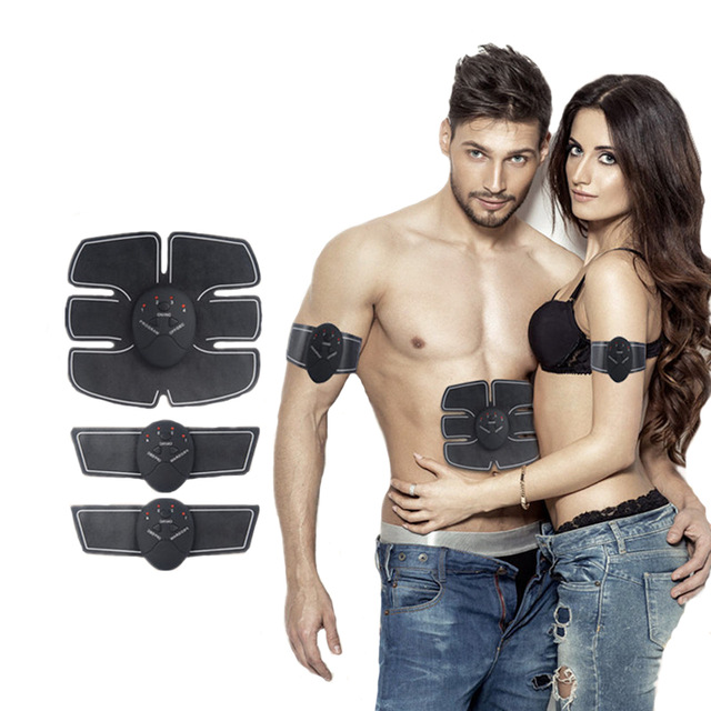EMS Trainer Wireless Muscle ABS Stimulator Smart Fitness Abdominal Training Device Electric Body Massager Weight Loss Stickers abdominal muscle trainer abs electrical muscle stimulator ems fitness trainer weight loss body slimming massager with three host