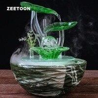 110 В 220 В Европейский Керамика ваза фонтан увлажнитель воздуха фэн шуй орнамент свет Домашний декор офиса Desktop распылитель