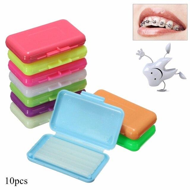 10 unids/pack ortodoncia Dental orto cera menta mezcla aroma para Braces soporte goma Irritacion dientes blanqueamiento Oral higiene herramienta