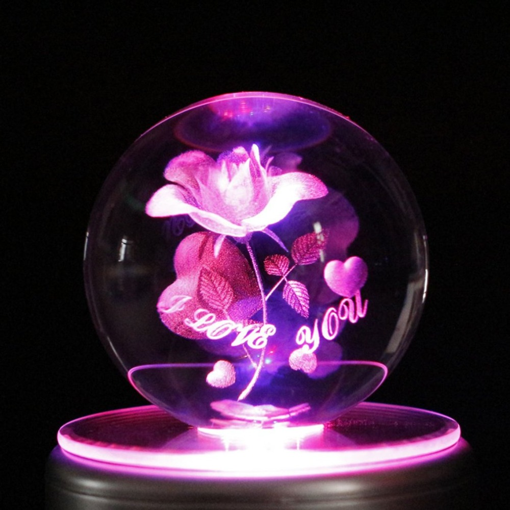 Belle boîte à musique colorée de boule de cristal de LED boîte à musique de décoration à la maison pour des enfants les meilleurs jouets de cadeau avec 18 musiques
