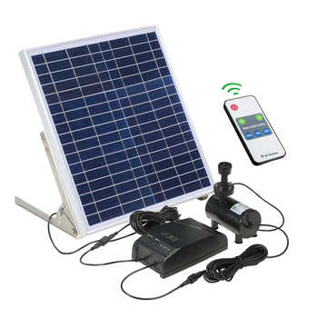 Multi-functional Solar Power Fountain Solar Panel + 3.6W Brushless Water Pump Kit with Storage Battery for Garden Pond Bird Bath