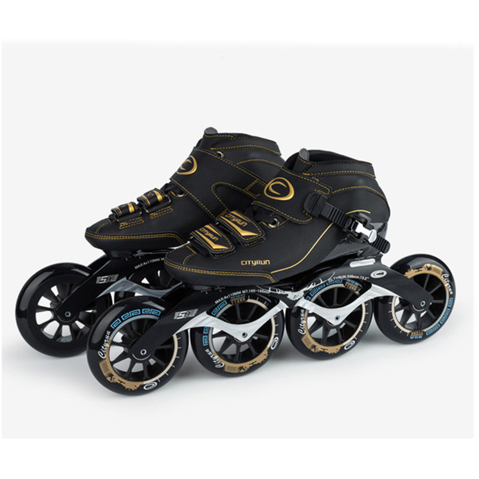 JEERKOOL Cityrun Speed Inline Skates Carbon Fiber Professional Competition Racing Skating Patines Similar Powerslide 17CT