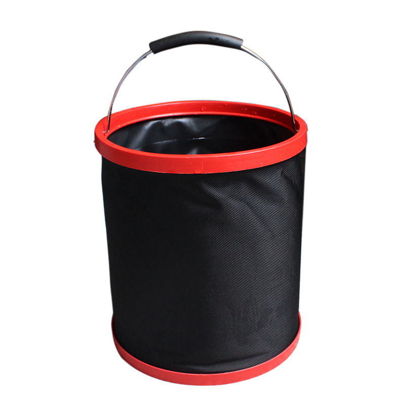 12L Multifunctional Folding Bucket 2000 D Oxford Cloth Fishing Bucket Camping Car Washing Bucket With Round Bag