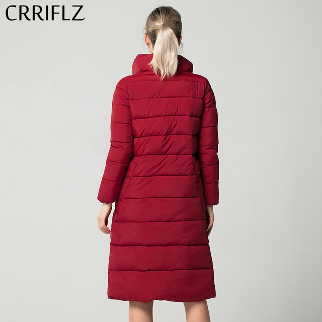 Fashionable Autum Winter Long Women Solid Jacket Warm Winter Jacket Women CRRIFLZ New Winter Collection