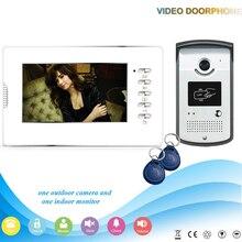 Xinsilu XSL-V70D-ID 1V1 2016 HOT Sale 7″ Handfree Video Door Phone Intercom System support ID card unlock