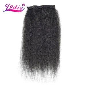 Image 5 - Lydia 8 teile/satz 18 Clips In Haar Haarteile 16 20 Inch Verworrene Gerade Lange Synthetische Wärme Beständig Haar Extensions bundles