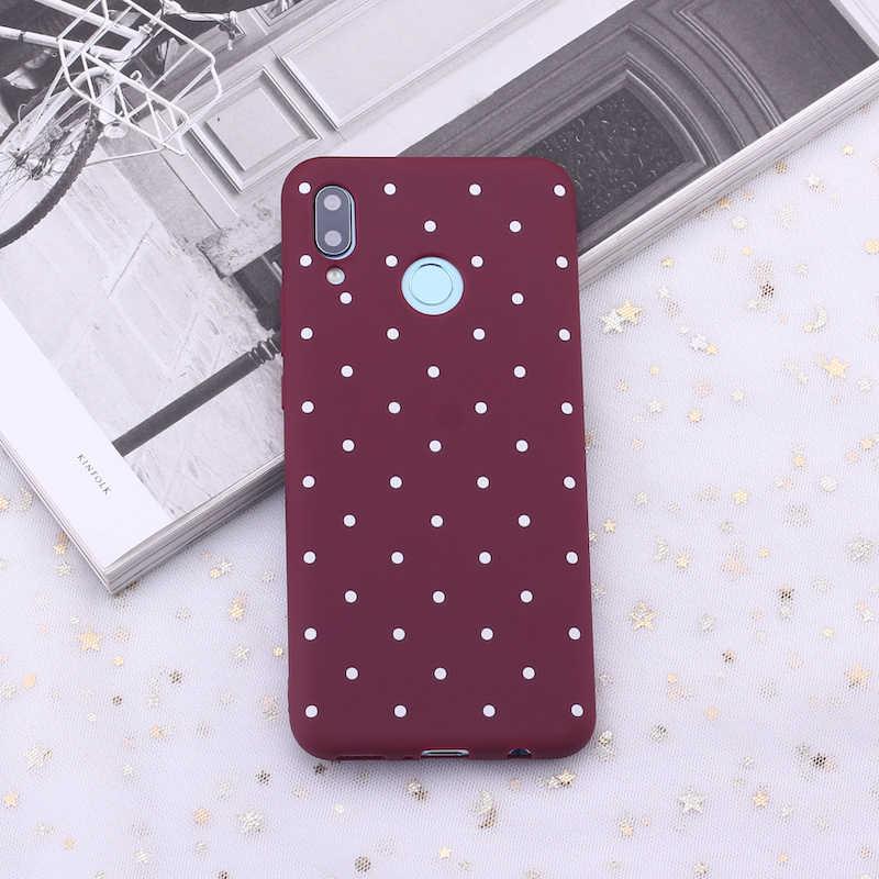 Для huawei Honor Коврики 10 20 Nova P20 P30 P Smart в горошек в полоску с принтом в виде сердца, бордового цвета конфеты силиконовый чехол для телефона чехол для мобильного телефона