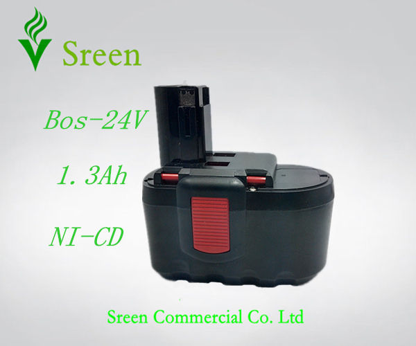 New 24V NI-CD 1300mAh Replacement Rechargeable Power Tool Battery for Bosch 2 607 335 446 2 607 335 268 BAT299 BAT240 BAT031 for bosch 14 4va 3300mah power tool battery ni cd 2607335678 2607335685 2607335686 2607335694 bat038 bat040 bat041 bat140 bat159