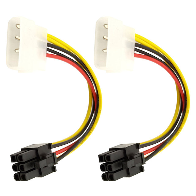 High Quality 4 Pin Molex to 6 Pin PCI-Express PCIE Video Card Power Converter Adapter Cable 20CM