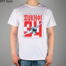 Cccp Ussr Soviet Sukhoi Fighter Male short-sleeved t-shirt New Arrival Fashion Brand T Shirt For Men Summer
