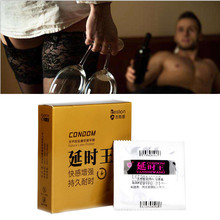 snowshine YLW  3Pcs Hyaluronic Acid Condoms For Men Feel Better Adult Toys Sex Condoms  free shipping