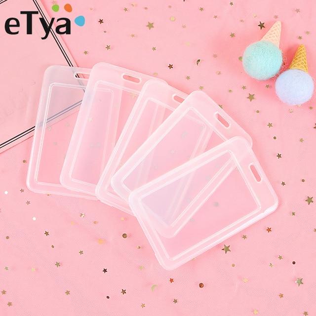 ETya прозрачный ПВХ банка для транспорта и кредитных карт держатель для карт чехол для хранения карты и ID Держатели Womem Для мужчин малыша Защитная крышка дропшиппинг