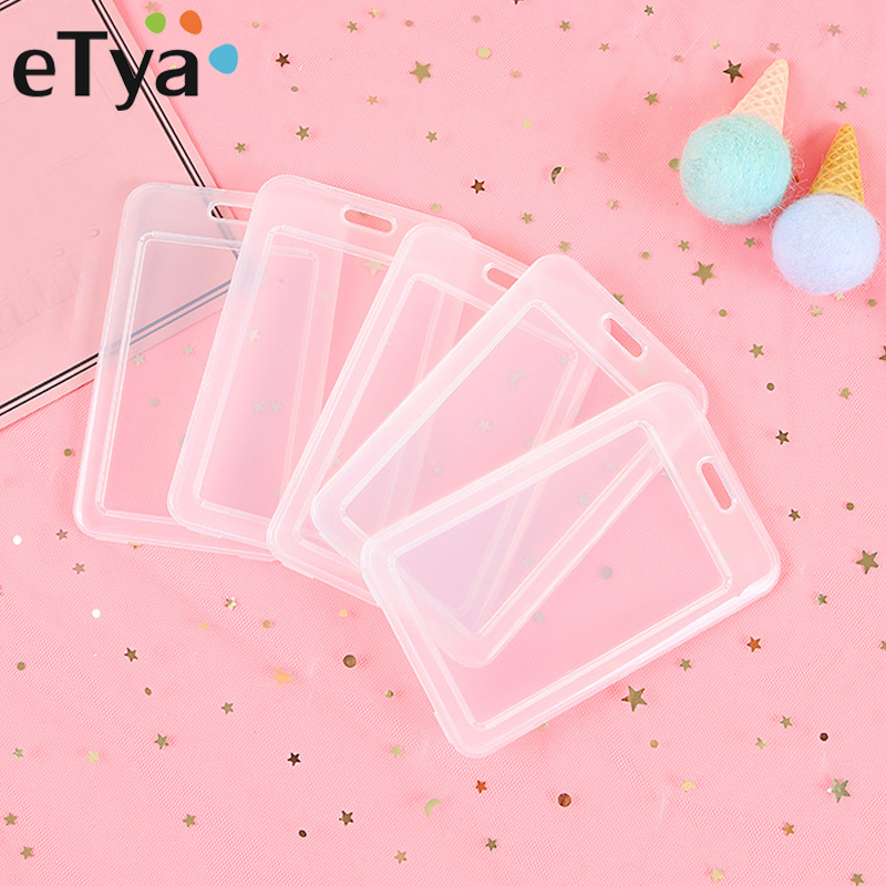 ETya Transparent PVC Bank Bus Credit Card Holder Cover Storage Card & ID Holders Womem Men Kid's Protector Cover Dropshipping